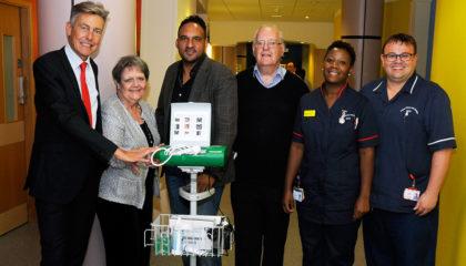 Bladder scanner donation to Bolham Ward by Barbara Tilbury